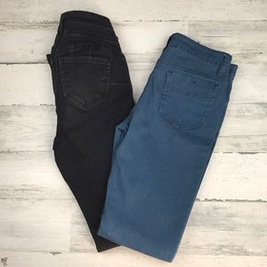 Denim - 2 pair of skinny jeans size 0